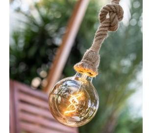 Simona trådløs udendørs loftlampe Ø12,5 cm - Natur