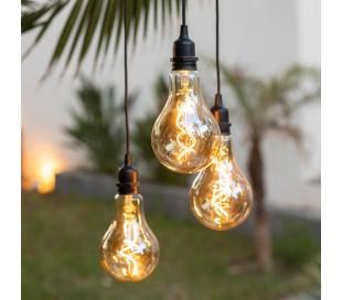 Chiara trådløs udendørs loftlampe H65 cm - Sort
