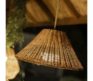 Calobra trådløs udendørs loftlampe Ø38 cm - Natur
