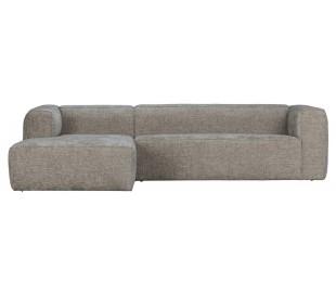 Moderne hjørnesofa i polyester 305 x 175 cm - Travertin