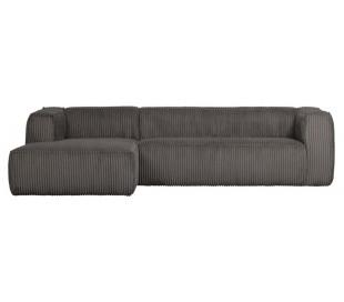 Moderne hjørnesofa i ripcord polyester 305 x 175 cm - Terrazzo