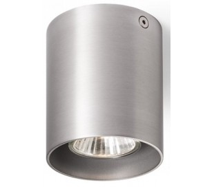 Mantova l påbygningsspot Ø8 cm 1 x GU10 - Børstet aluminium