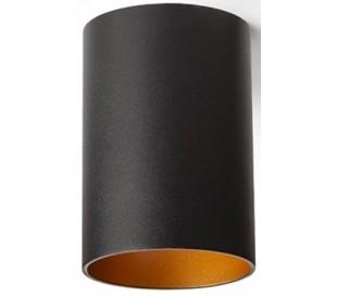Connor påbygningsspot Ø6,9 cm 1 x GU10 - Sort/Guld