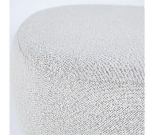 Liby puf i polyester 90 x 70 cm - Beige