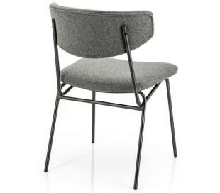 Spisebordsstol i polyester og metal H78 cm - Sort/Mørkegrå