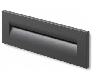 Rasq Væglampe til indbygning 25 x 8,6 cm 8,5W LED - Antracit