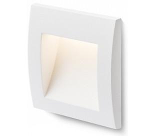 Gordiq S Væglampe til indbygning 9 x 9 cm 1,5W LED - Hvid