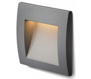 Gordiq S Væglampe til indbygning 9 x 9 cm 1,5W LED - Antracit