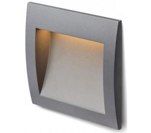 Gordiq M Væglampe til indbygning 14 x 14 cm 3W LED - Antracit