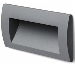 Gordiq L Væglampe til indbygning 14 x 7 cm 3W LED - Antracit