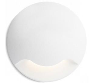 Kick l Væglampe til indbygning Ø5 cm 3W LED - Hvid