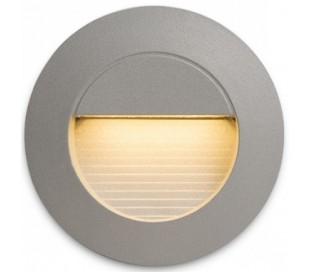 Marco Væglampe til indbygning Ø7,8 cm 3W LED - Sølvgrå