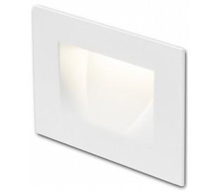Per Væglampe til indbygning 10,7 x 7 cm 3W LED - Hvid