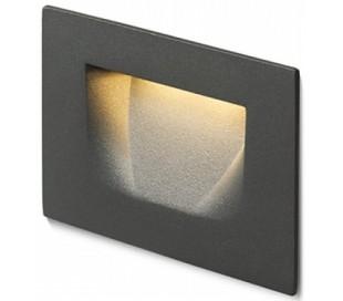 Per Væglampe til indbygning 10,7 x 7 cm 3W LED - Antracit