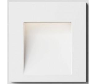 Tess SQ Væglampe til indbygning 6,4 x 6,7 cm 3W LED - Hvid