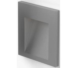 Tess SQ Væglampe til indbygning 6,4 x 6,7 cm 3W LED - Sølvgrå