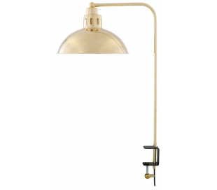 Paris Bordlampe med klemme H70 cm 1 x E27 - Poleret messing