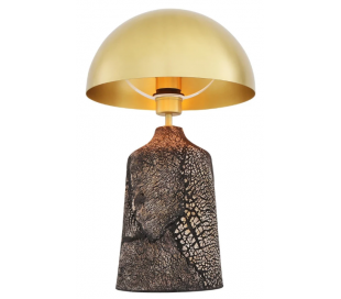 Cassia Bordlampe H50 cm 1 x E27 - Poleret messing/Rustik sort