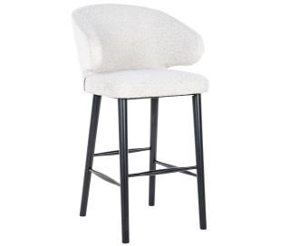 Indigo barstol i polyester H106 cm - Hvid/Sort