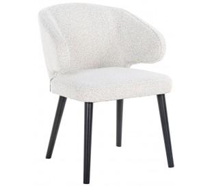 Indigo spisebordsstol i polyester H81 cm - Sort/Hvid