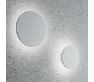 AP 20 rund væglampe i aluminium Ø20 cm 1 x 11W LED - Mat hvid