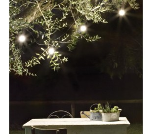 Fiesta udendørs lyskæde L605 cm 10 x E27 - Hvid