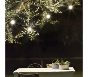 Fiesta udendørs lyskæde L605 cm 10 x E27 - Sort