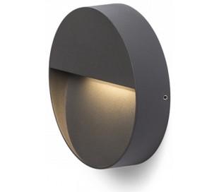 Aqila R Væglampe i metal Ø15 cm 6W LED - Antracit