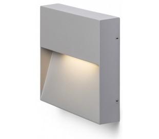 Aqila SQ Væglampe i metal 15 x 15 cm 6W LED - Grå