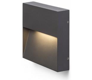 Aqila SQ Væglampe i metal 15 x 15 cm 6W LED - Antracit