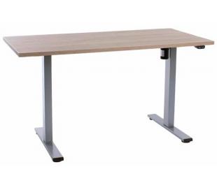 EP Home hæve sænkebord 140 x 70 cm - Grå/Eg