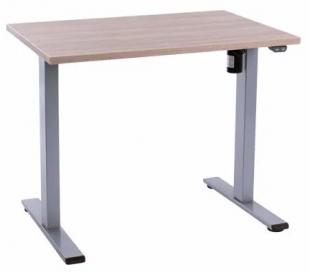 EP Home hæve sænkebord 90 x 60 cm - Grå/Eg