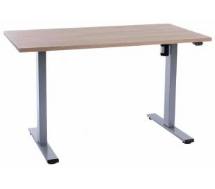EP Home hæve sænkebord 120 x 60 cm - Grå/Eg