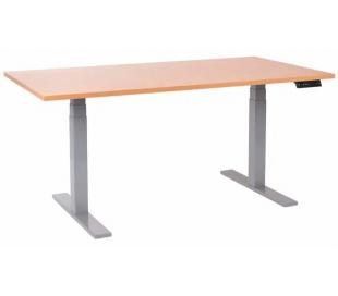 EP 6000 Hæve sænkebord 160 x 80 cm - Alu/Bøg