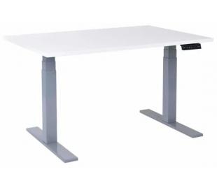 EP 6000 Hæve sænkebord 140 x 80 cm - Alu/Hvid