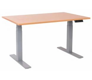 EP 6000 Hæve sænkebord 140 x 80 cm - Alu/Bøg