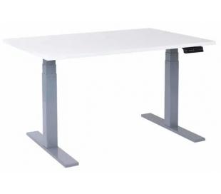 EP 6000 Hæve sænkebord 120 x 80 cm - Alu/Hvid