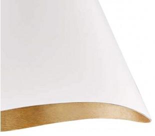 Martini Loftlampe i aluminium Ø46 cm 1 x E27 - Mat hvid/Antik bladguld