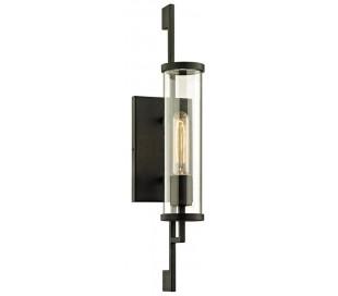 Park Slope væglampe i jern og glas H53,4 cm 1 x E27 - Sort/Klar