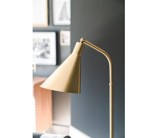 Stanton Gulvlampe i stål og marmor H137 cm 1 x E27 - Antik messing/Sort marmor