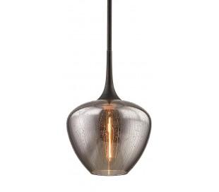 West End Loftlampe i stål og glas Ø32 cm 1 x E27 - Aldret bronze/Smoked rain