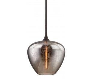 West End Loftlampe i stål og glas Ø41 cm 1 x E27 - Aldret bronze/Smoked rain