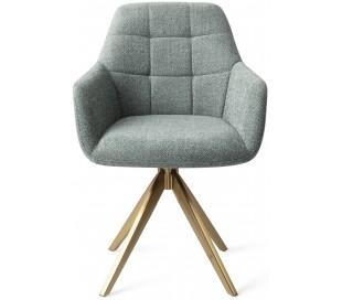2 x Noto Rotérbare Spisebordsstole H86 cm polyester - Guld/Teal