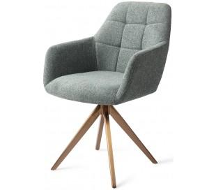 2 x Noto Rotérbare Spisebordsstole H86 cm polyester - Rødguld/Teal