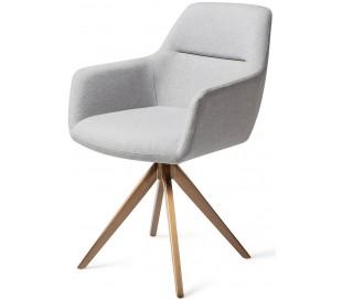 2 x Kinko Rotérbare Spisebordsstole H84 cm polyester - Rødguld/Grå