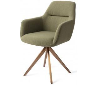 2 x Kinko Rotérbare Spisebordsstole H84 cm polyester - Rødguld/Jægergrøn