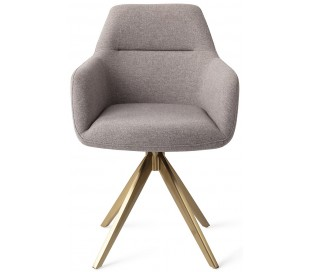 2 x Kinko Rotérbare Spisebordsstole H84 cm polyester - Guld/Earl Grey