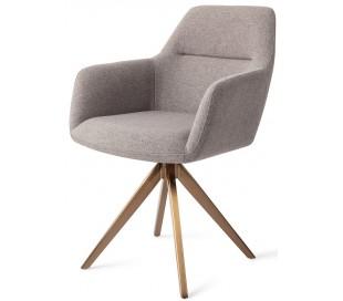 2 x Kinko Rotérbare Spisebordsstole H84 cm polyester - Rødguld/Earl Grey