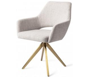 2 x Yanai Rotérbare Spisebordsstole H86 cm polyester - Guld/Duegrå