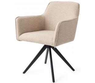 2 x Hofu Rotérbare Spisebordsstole H82 cm polyester - Sort/Lys valnød